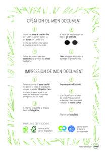 fiche recap pour imprimer vert chez soi et au travail