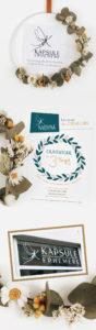 Carte de visite, flyer et enseigne boutique Kapsule Ephemere